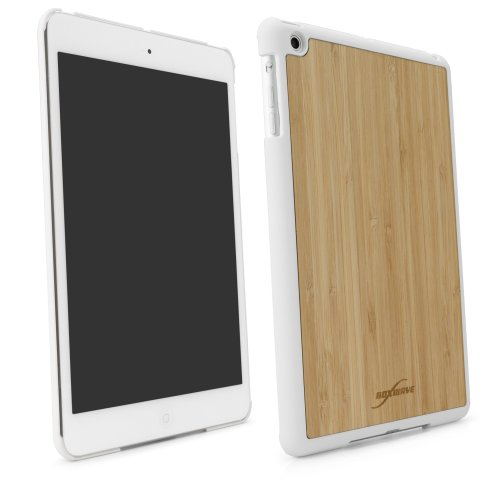 BoxWave True Bamboo Minimus iPad mini Case, Genuine Bamboo Wood Backing Shell Case Cover with Durable Plastic Edges with Smooth Matte Finish (Winter White)
