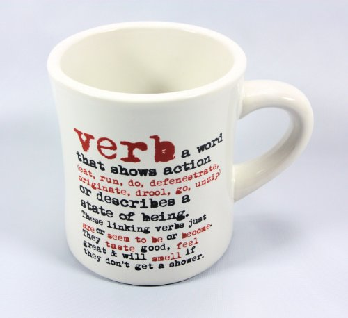 grammarRULES! Diner Style Coffee Mugs - Proper English Lessons on a Heavy Duty Coffee Mug (Verb) (Phonetics Diagram compare prices)