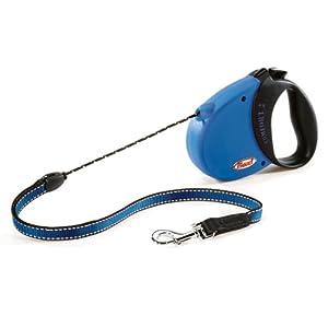 Flexi Comfort 16-Feet Small Leash, 26-Pound, Blue/Black