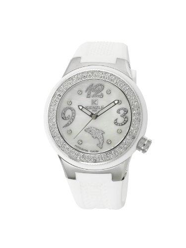 Kienzle K2072154353-00287 - Reloj analógico de cuarzo para mujer con correa de silicona, color blanco