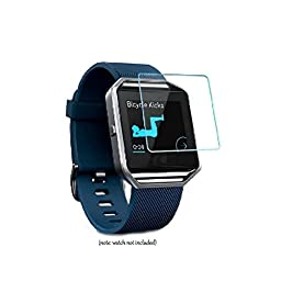 Shangpule 2x Pcs Premium Tempered Glass Screen Protector Film for Fitbit Blaze Tracker Smartwatch