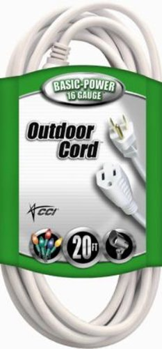 Images for Coleman Cable 02352-01 20-Feet 16/3 Vinyl Landscape Outdoor Extension Cord, White