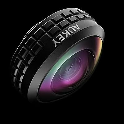 AUKEY スマホレンズ 超広角レンズ0.2倍ワイドレンズ セルカレンズ iPhone、Samsung、Sony、Androidスマートフォン、タプレットなどに対応 PL-WD02