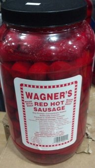 Wagner's Red Hot Sausage 4 Lb. (Made with Beef) (Hannah Pickled Sausages compare prices)