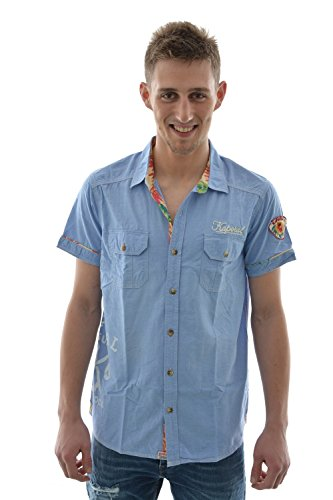 Camicia a maniche corte, 5 zurfa kaporal, colore: blu blu M