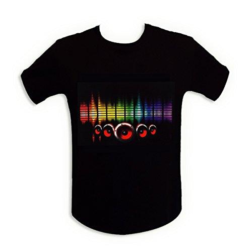 T-Shirt-Sono-Lichterkette-LED-Equalizer-beleuchtet-Lautsprecher-L