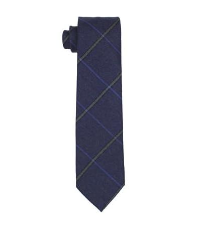 Desanto Men's Plaid Scozia Tie, Blue As You See