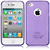 IPhone 4S / iPhone 4 S Curve Purple TPU Gel Skin / Case / Cover