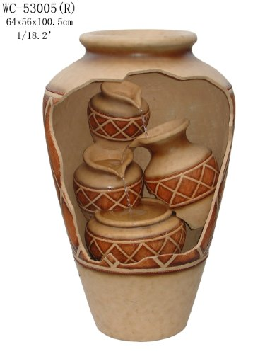Garden Patio Outdoor Indoor 4 Vases Inside Pot Urn Sculpture Water Fountain 40