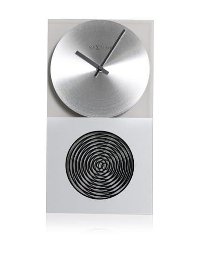 Nextime The Moray Clock, Glass/Silver