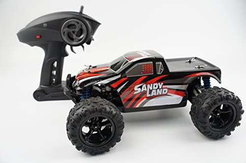 RC Car 1/18 Scale Pickup truck Offroad Novcolxya Model Electric Fast 2.4Ghz Radio Remote control Buggy Hobby Car Equipped with 7.4V 850MAH Rechargeable Battery 4WD High Speed 30MPH Remote(Red) (Fast Power Wheels For Boys 5 Up compare prices)
