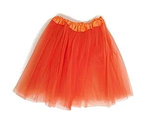 Rush Dance Women's Costume Ballet Warrior Dash Run Tutu (Adult, Orange)