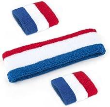 GOGO Thick Solid Color Sweatband Set 1 Headband  2 Wristbands