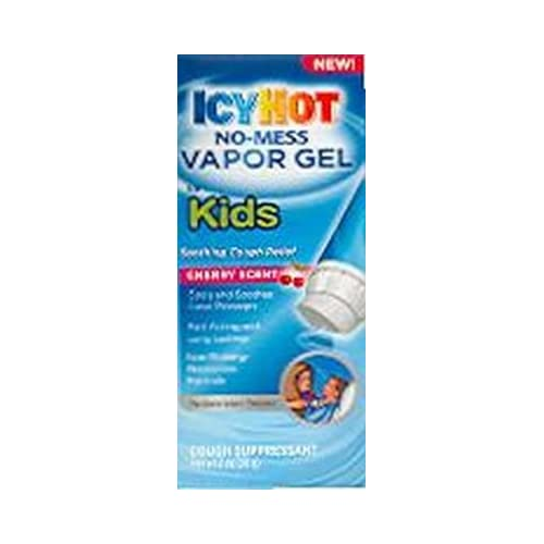Icy Hot No-Mess Vapor Gel for Kids, Cough Suppressant, Cherry 2 oz. (3