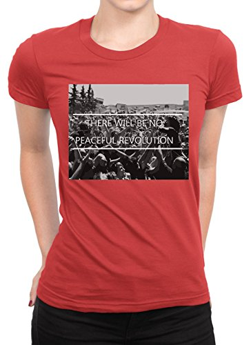 onetwotee -  T-shirt - Donna rosso small