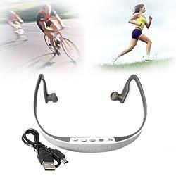 FM Radio Sport Wireless Headset Headphone Earphone Music MP3 Player TF Up To 16G
