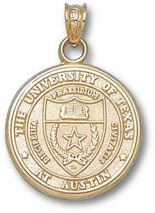 Texas Longhorns Seal Pendant - 14KT Gold Jewelry by Logo Art