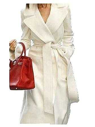 Amazon.com: YABEIQIN Women's Wool Cashmere Winter Noble