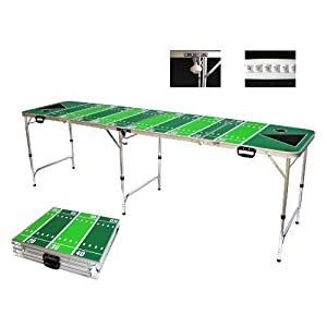 Click to buy Football Tailgate Beer Pong Table - 8 Feet with Bottle Opener, Ball Rack, & 6 Pong Balls!from Amazon!
