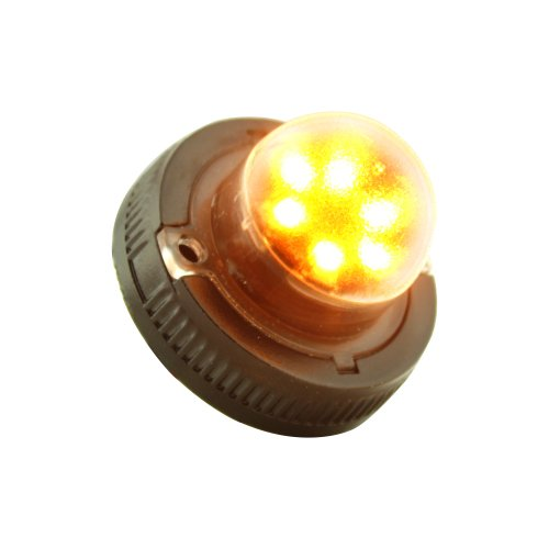 Lamphus Snakeeye Ii-6 Emergency Vehicle Construction Tow Truck Surface Mount 6W Led Hide-Away Strobe Warning Light ( Other Color Available ) - Amber