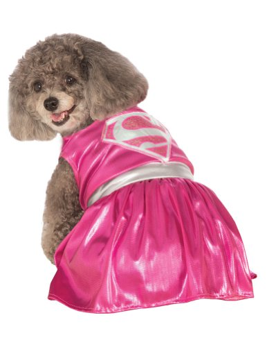 Extra Large - Cat & Dog Costume Pink Supergirl Xl