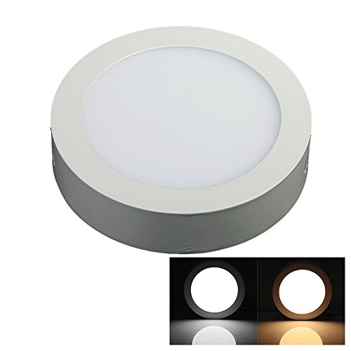 Lvjing® 6000K Energy Saving Round Led Surface Ceiling Panel Down Light Mount Lamp Ultra Thin And Bright (12W, Day White, Non-Dimmable)