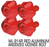 Pilot Red Anodized License Plate Frame Bolts WL-914R
