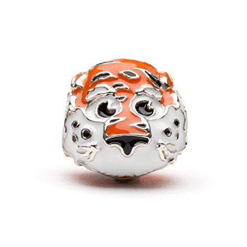 Auburn Tigers 3-D Bead Charm - Aubie the Tiger - Fits Pandora & Others - Lifetime Guarantee