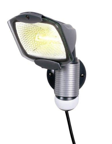 Cooper Lighting MS100PG 110-Degree 100-Watt Portable Plug-in Motion Security Floodlight, Gray at Sears.com