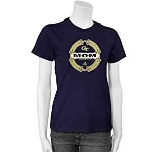 adidas Georgia Tech Yellow Jackets Ladies Navy Blue Mom T-shirt