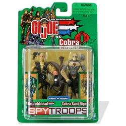G.I.JOE SPY TROOPS Beachhead vs. Cobra Sand Viper 2 pack