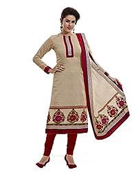 Nirali Women's Georgette Unstitched Dress Material (NRDMR NO 1623_Beige)