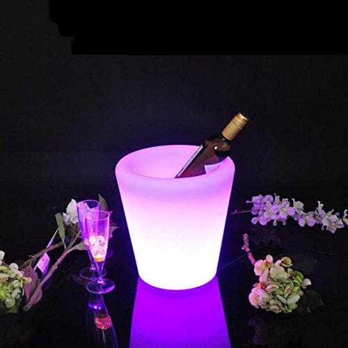 QINQIN Colorée LED light bar champagne vin seaux à glace