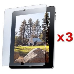 KHOMO 3 Pack Anti-Glare Invisible Screen Film Protector for new Apple iPad 2