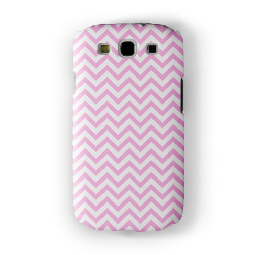 Baby Pink Chevron Pattern Full Wrap High Quality 3D Printed Case, Snap-On Protective Hard Back Cover For Samsung® Galaxy S3 By Ultracases