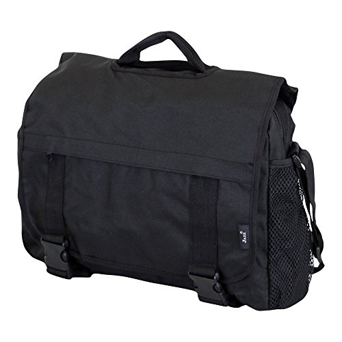 Large Messenger Shoulder Meeting Bag for School College Office W Organiser Pocket - Holds A4 Folders