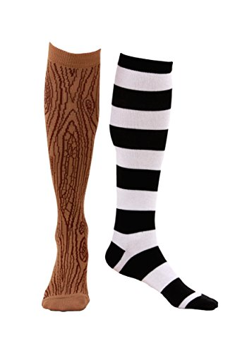 elope Mismatched Pirate Knee High Socks