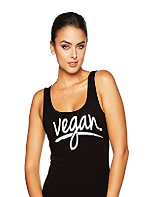 Hot Ass Tees Womens Fitted Vegan Health Funny Novelty Parody Tank Top