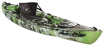 07.6380.1168 Ocean Kayak Prowler Sit-On-Top Kayak, Lime Camo, 13' by Johnson Outdoors Watercraft