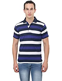 Trendy Trotters Regular Fit Striped Polo Neck Tshirt