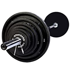 USA Sports by Troy Barbell 300 lb. Olympic Weight Set with Chrome Bar by Troy Barbell and Fitness