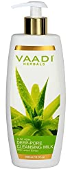 Vaadi Herbals Aloevera Deep Pore Cleansing Milk with Lemon Extract, 350g