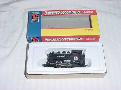 WALTHERS, LIFE LIKE, RTR, HO SCALE,CLASSIC LOOK STEAM LOCOMOTIVE, DOCKSIDE, A.T.&S.F.
