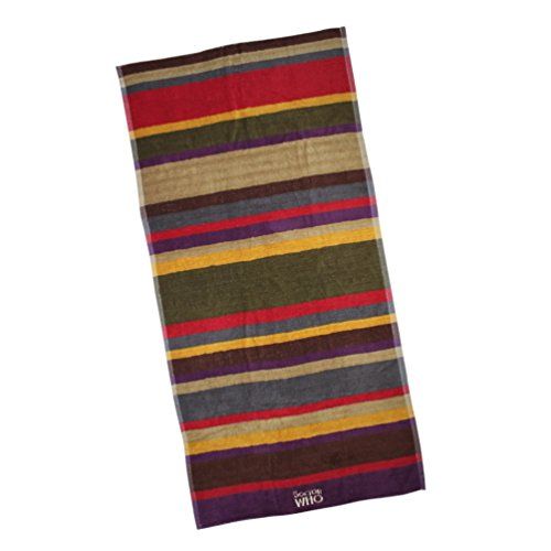 Doctor Who 4th Doctor Scarf Striped Beach Towel (Multi-colored)