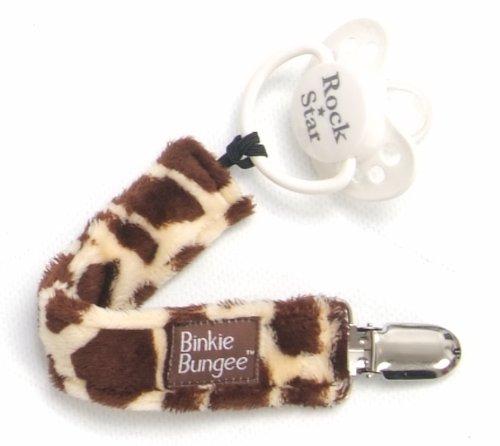 Imagen de Z. Daisy Pink Binkie Bungee Pacifier Clip