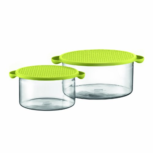 Hot Pot Set Borosilicate Glass Baking Dish in Green