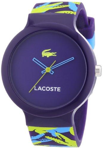 Lacoste 2020065 - Reloj del silicón para mujer, esfera multicolor