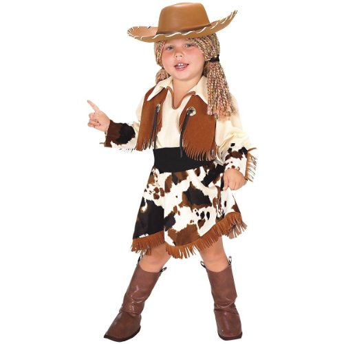 Yarn Babies Cowgirl Kid's Halloween Costume Size (3-4 Years) (Cowgirl Costume For Toddler)
