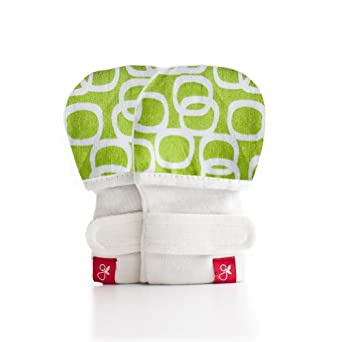 Guava Kids Unisex Baby Guava Mitts - Bubbles/Lime - Small/Medium
