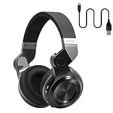 buy Bluedio Bluetooth 4.1 Wireless Water Resistant Headset T2 (Turbine 2) Bluetooth Stereo Headphones With Mic, Black